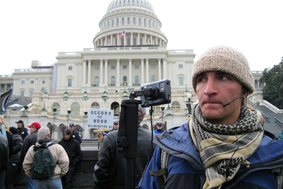 Amadon livestreams the Occupy Congress protest direct from the nation's capital.